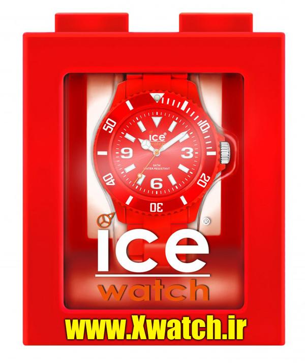 ساعت مچی بند رنگی قرمز