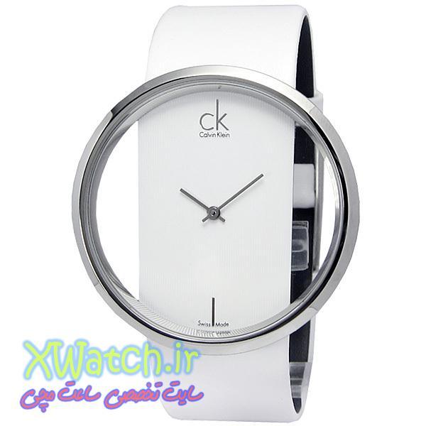 ساعت مچی چرمی سفید